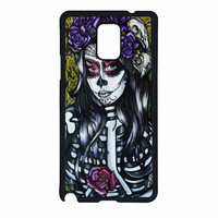 Floral Sugar Skull Day Of The Dead Samsung Galaxy Note 4 Case