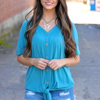 What You Need Teal Top