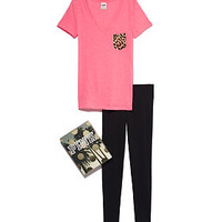 Pocket Tee & Yoga Leggings Gift Set - PINK - Victoria's Secret
