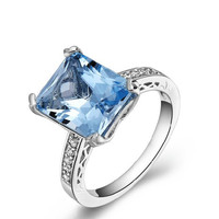 4.59ct Topaz silver ring