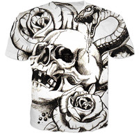 Roses Snakes And A Skull