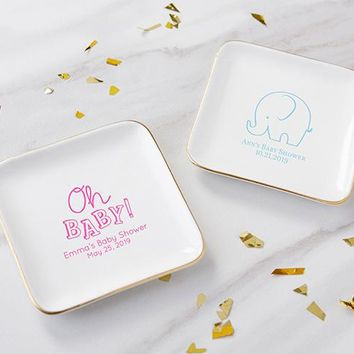 Personalized Trinket Dish - Baby Shower