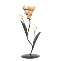 Golden Dawn Lily Candle Holder