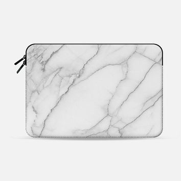 Marble Macbook Pro 13 sleeve by Sara Eshak | Casetify