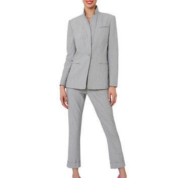 Isaac Mizrahi New York One-Button Long-Sleeve Blazer