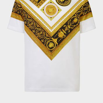 Versace Cornici Print T-Shirt for Men | US Online Store