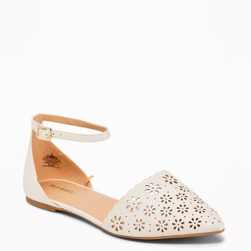 Laser-Cut Pointy-Toe Flats for Women | Old Navy