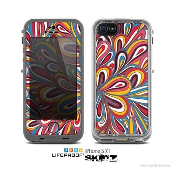 The Color Floral Sprout Skin for the Apple iPhone 5c LifeProof Case
