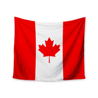 "Bruce Stanfield ""Flag of Canada"" Red White Wall Tapestry"