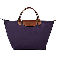 "Médium hand bag size M ( bilberry ) by longchamp paris "" LE PLIAGE "" 100% authentic original from PARIS FRANCE"