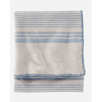 Pendleton - Eco-Wise Wool Solid Taupe Irving Stripe King Blanket