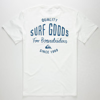 Quiksilver Squid Lips Mens Pocket Tee White  In Sizes