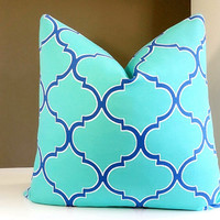 Turquoise Outdoor Pillows - Outdoor Decor- All sizes available - Select your size during checkout