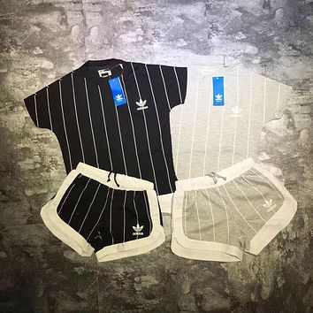 Adidas Print Short sleeve Top Shorts Pants Sweatpants Set Two-Piece Sportswear