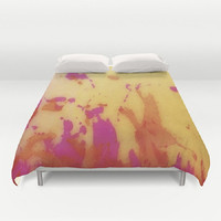 Impressionist Duvet Cover Abstract Duvet Cover Watercolor Duvet Cover Bright Pink Duvet Cover Bright Orange Duvet Cover Dorm room makeover