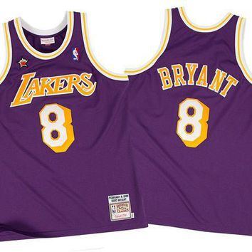 LMFON Mitchell & Ness Kobe Bryant 1998-99 Authentic Jersey Los Angeles Lakers In Purple
