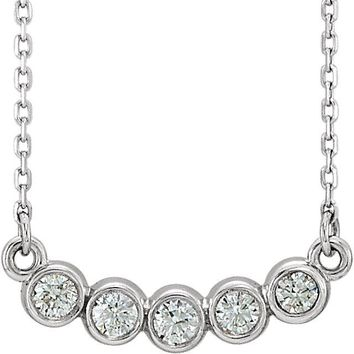 Ethically Mined Natural Diamond Bezel Set Necklace