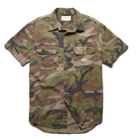 CAMOUFLAGE COTTON SPORT SHIRT