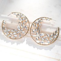Crystal Marrie Hoop Earrings