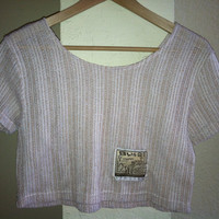 Vintage Bliss Cream and Beige Crop Top TShirt by MiGente on Etsy