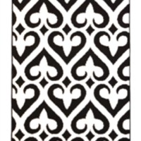 Fleur-de-lis Rug - Black and White