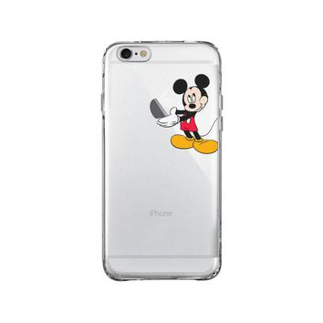 DISNEY MICKEY MOUSE EAT APPLE iPhone and Samsung Galaxy Clear Case