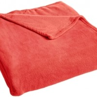 Rampage Plush Blanket, Full/Queen, Coral