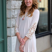Lovely in Crochet Tunic {Stone}