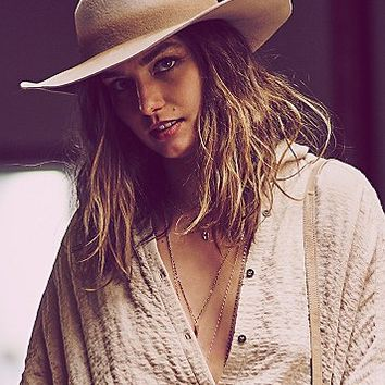 Free People Womens Trail Dusted Distressed Hat