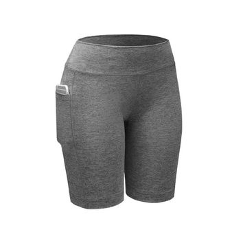 USA SHIPPING Quick Dry Women Compression Shorts Elastic Running Fitness Gym Shorts With Pocket Feminino Fitness  Shorts