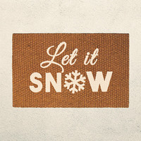 Let It Snow – Holiday Doormat  – Welcome Mat - Outdoor Rug - Home Decor, Holiday Decor, Christmas Decor, Seasonal Decor