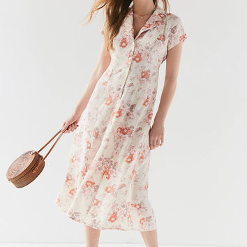 Urban Renewal Remnants Floral Button-Down Midi Dress | Urban Outfitters Canada