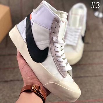 OFF-WHITE x NIKE BLAZER MID OW Joint name pioneer breathable high top shoes F-AA-SDDSL-KHZHXMKH #3