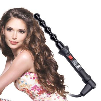 Professional Hair Curler Ceramic Roller Bead Curling Wand Machine