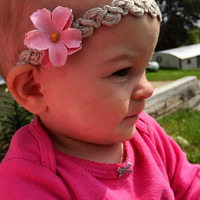 Boho style headband, twine headband, baby headband, halo crown headband, infant headband, teen headband, braid headband, girls headband