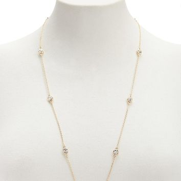 Chain-Link CZ Necklace