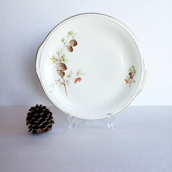 Vintage Taylor Smith & Taylor Pine Cone and Berries Serving Platter