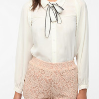 Urban Outfitters - Sister Jane Scalloped Tie-Neck Blouse