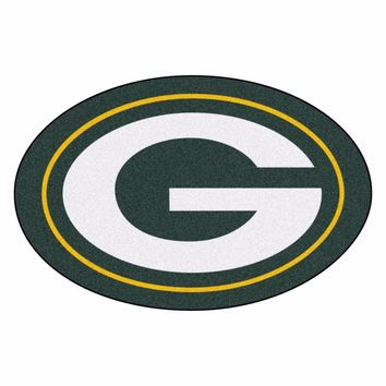 Green Bay Packers Mascot Decorative Logo Cut Area Rug Floor Mat