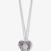 Heart Watch Locket Necklace