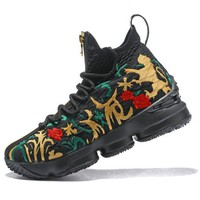 LeBron 15 XV EP Black Flower