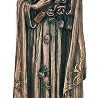 St. Theresa from the Veronese Collection in lightly hand-painted cold cast bronze, 8 inches.