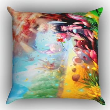 Ether Saga Online Z1229 Zippered Pillows  Covers 16x16, 18x18, 20x20 Inches