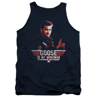 TOP GUN/WINGMAN GOOSE - ADULT TANK - NAVY -