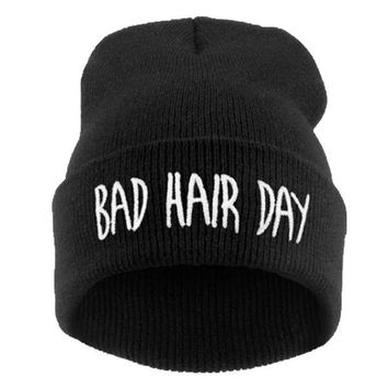 DCCKWQA Winter Hat Men 21 Colour Bad Hair Day 2016 Fashion Casual Gorros Elastic Bonnet Skullies Knitted Hats For Women Beanies