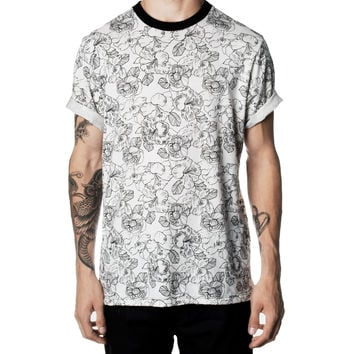 White Floral Tee