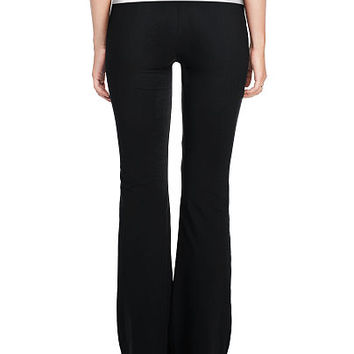 Foldover Waist Yoga Flare Pant - PINK - Victoria's Secret