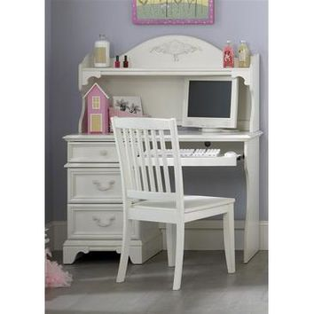 Liberty Furniture Arielle Student Desk in Antique White Finish