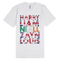 1D Flags-Unisex White T-Shirt