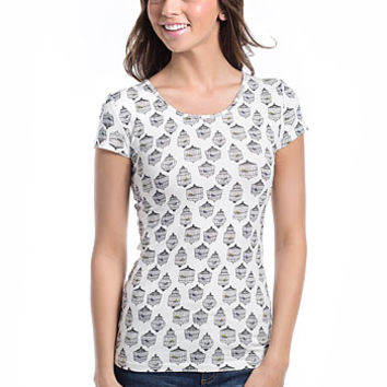 Trapped Beauty Birdcage Print Tee